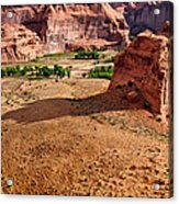 Footprints In The Sand  Canyon Dechelly Acrylic Print