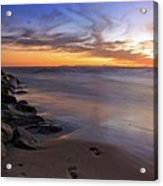 Footprints In The Sand Acrylic Print