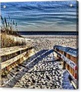 Footprint's In The Sand Acrylic Print