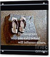 Footprints Left Behind Acrylic Print
