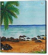 Footprints On Los Pinones Beach Pr Acrylic Print