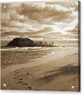 Footsteps In The Sand Acrylic Print
