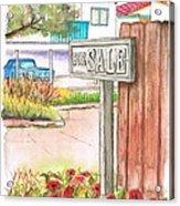 For Sale Sign In Goleta Beach, California Acrylic Print