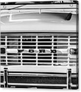 Ford Bronco Grille Emblem -0014bw Acrylic Print