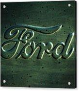 Ford Emblem -0113c Acrylic Print
