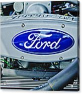 Ford Engine Emblem Acrylic Print