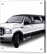 Ford Excursion Stretched Limousine Acrylic Print