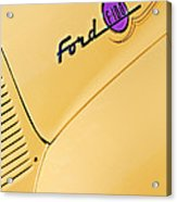 Ford F-100 Emblem Pickup Truck Acrylic Print