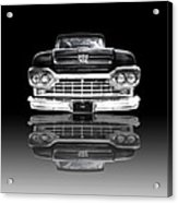 Ford F100 Truck Reflection On Black Acrylic Print