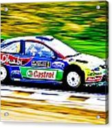 Ford Focus Wrc Acrylic Print by motography aka Phil Clark