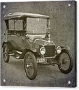 Ford Model T Acrylic Print by Angie Vogel