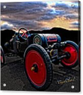 Ford Model T Racer Beat The Storm Home Acrylic Print
