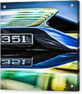 Ford Mustang 351 Engine Emblem -1011c Acrylic Print