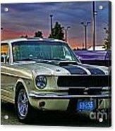 Ford Mustang At Sunset Acrylic Print