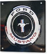 Ford Mustang Emblem Acrylic Print