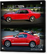 Ford Mustang Old Or New Acrylic Print