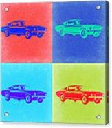 Ford Mustang Pop Art 2 Acrylic Print