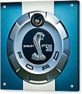 Ford Shelby Gt 500 Cobra Emblem Acrylic Print
