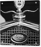 Ford Winged Hood Ornament Black And White Acrylic Print
