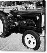 Fordson Major Diesel Classic Tractor During Vintage Tractor Rally At Glenarm Castle Open Day County Antrim Northern Ireland Acrylic Print