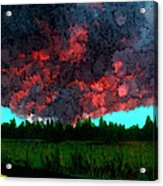 Forest Fire Acrylic Print