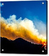 Forest Fire Sunset Acrylic Print