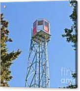 Forest Fire Watch Tower Steel Lookout Structure Acrylic Print