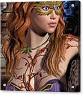Forest Girl Acrylic Print
