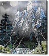 Forest Moon Acrylic Print