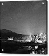 Forest Of Stars Above The Chapel On The Rock Bw Acrylic Print