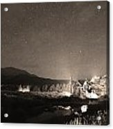 Forest Of Stars Above The Chapel On The Rock Sepia Acrylic Print
