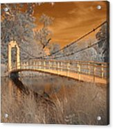 Forest Park Bridge Infrared Acrylic Print
