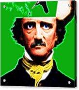 Forevermore - Edgar Allan Poe - Green Acrylic Print