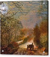 Forge Valley Near Scarborough Acrylic Print by John Atkinson Grimshaw