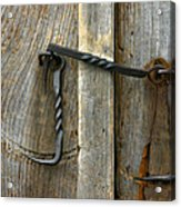 Forged Locks Acrylic Print