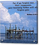 Forgive Men  Acrylic Print