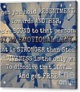 Forgiveness Acrylic Print