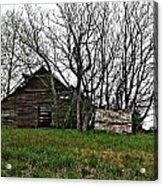 Forgotten Barn Acrylic Print by Sarah E Kohara