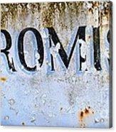 Forgotten Promise Acrylic Print