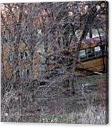 Forgotten Schoolbus Illinois Bend North Texas Acrylic Print