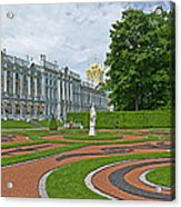 Formal Garden In Front Of The Palace Acrylic Print
