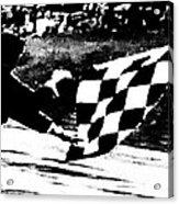 Formula 1 Vintage Checkered Flag Acrylic Print