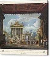 Foro Di Pompei Festivamente Adorno Acrylic Print