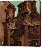 Foro Transitorum     Date 1891 Acrylic Print
