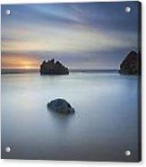 Forresters Beach Sunrise 3 Acrylic Print by Steve Caldwell