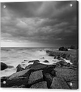 Forresters Storm Acrylic Print by Steve Caldwell