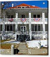 Fort Bayard Commandant's House Acrylic Print by Feva  Fotos