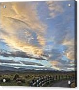Fort Collins Sunset Acrylic Print