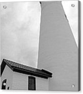 Fort Gratiot Light House In Black And White Acrylic Print