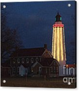 Fort Gratiot Lighthouse And Buildings Acrylic Print